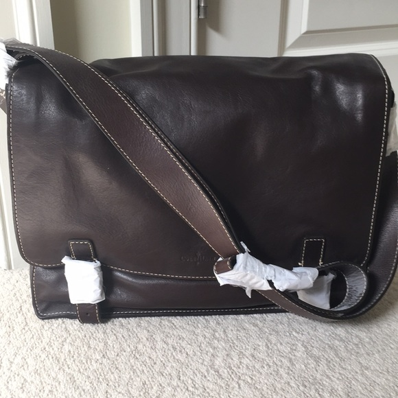 125e62c7a9458 NWT Cole Haan Leather Messenger Bag Crossbody